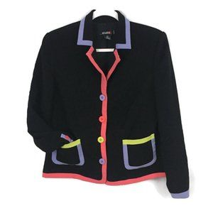 Vintage | 90s Blazer with Neon Trim Blazer Jacket